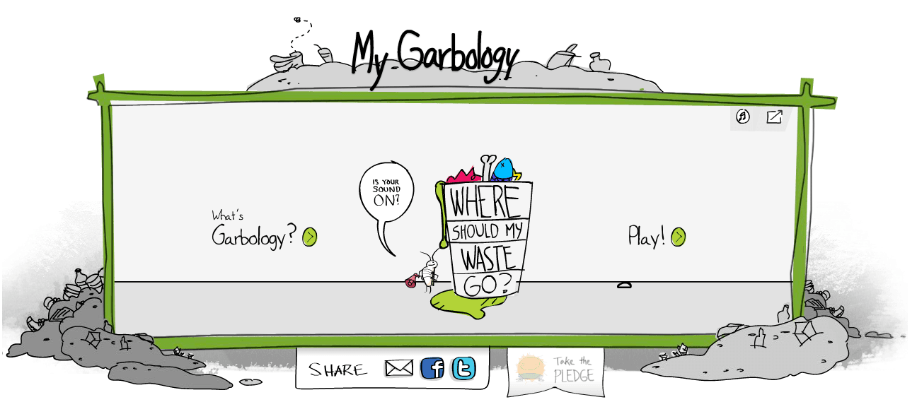 Screenshot of Garbology Game